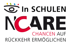 Logo NCARE in Schulen - Chanchen auf Rückkehr ermöglichen