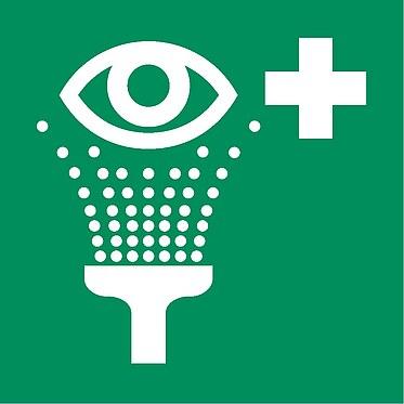 Rettungszeichen E006 Augendusche