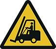 Warnzeichen W007: Warnung vor Flurförderfahrzeugen
