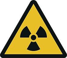 Warnzeichen W003: Warnung vor radioaktiven Stoffen oder ionisierender Strahlung