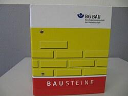 """Hier ist ein Ordner der BauBG, die sogenannten """"Bausteine"""", dargestellt. Im Ordner sind Informationen zur Erstellung der Gefährdungsbeurteilung enthalten."""