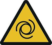 Gefahrensymbol - Schnelllaufende, rotierende Maschinenteile