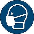 Gebotszeichen D-M026: Mundschutz tragen