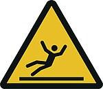 Warnzeichen W011: Warnung vor Rutschgefahr