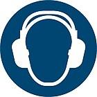 Gebotszeichen D-M003: Gehörschutz tragen