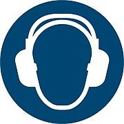 Gebotszeichen - Tragen von Gehörschutz